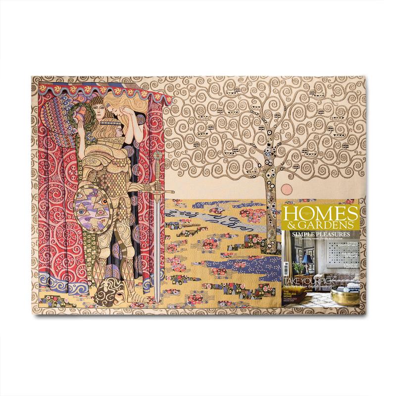 """比利时GK-ART提花编织挂毯地毯""""克里姆特"""""""